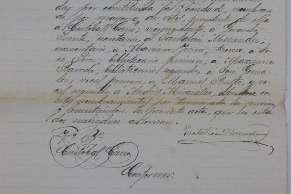 Ateneo Obrero de Villaviciosa - Acta de constitución