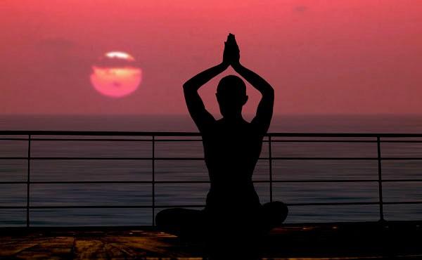Yoga al atardecer